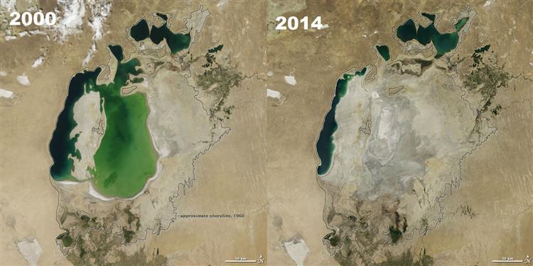 RIP Mar de Aral: NASA revela a certidão de óbito