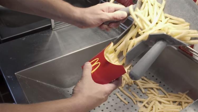 Vídeo revela como são feitas as batatas-fritas do McDonald's