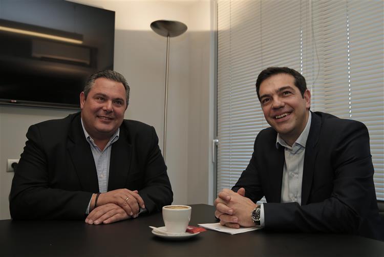 Os 'pais' da aliança entre o Syriza e a direita