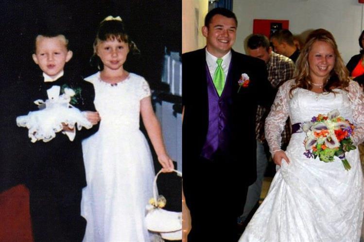 Menino das alianças e menina das flores casam-se 17 anos depois