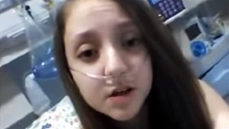 'Deixe-me morrer, Presidente!', pediu esta menina de 14 anos