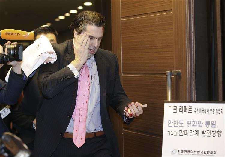 Embaixador norte-americano esfaqueado na Coreia do Sul