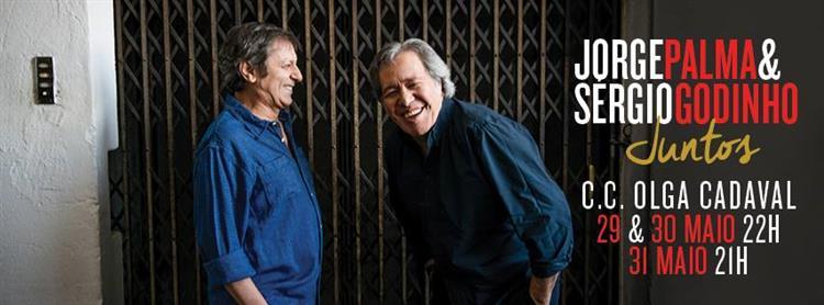 Sérgio Godinho e Jorge Palma lado a lado em palco