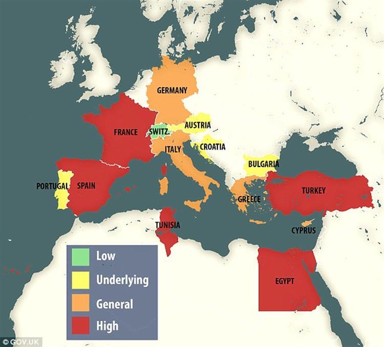 Reino Unido alerta para os destinos com maior risco de ataque terrorista a turistas